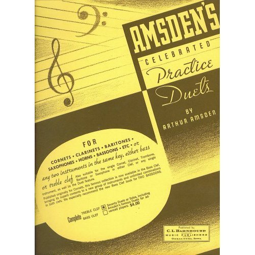 Amsden's Celebrated Practice Duets (Bass clef)