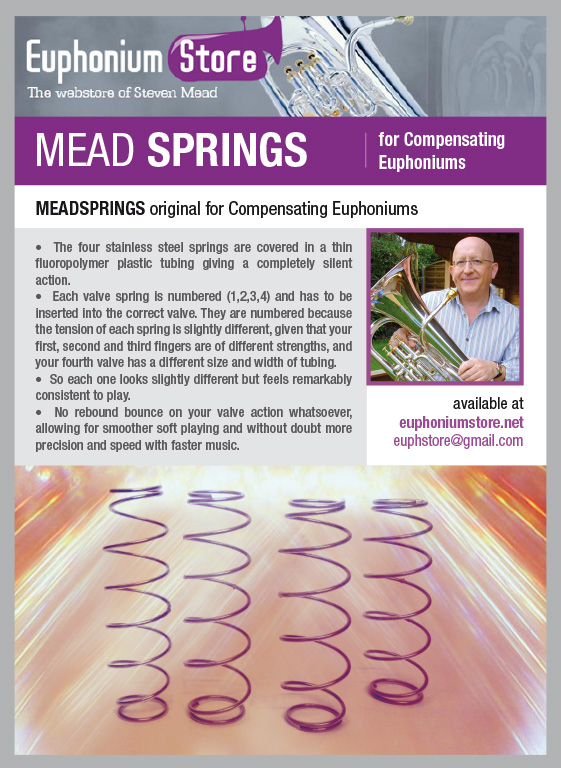 MeadSprings (Original) for Compensating Euphoniums and Eb/F Tubas