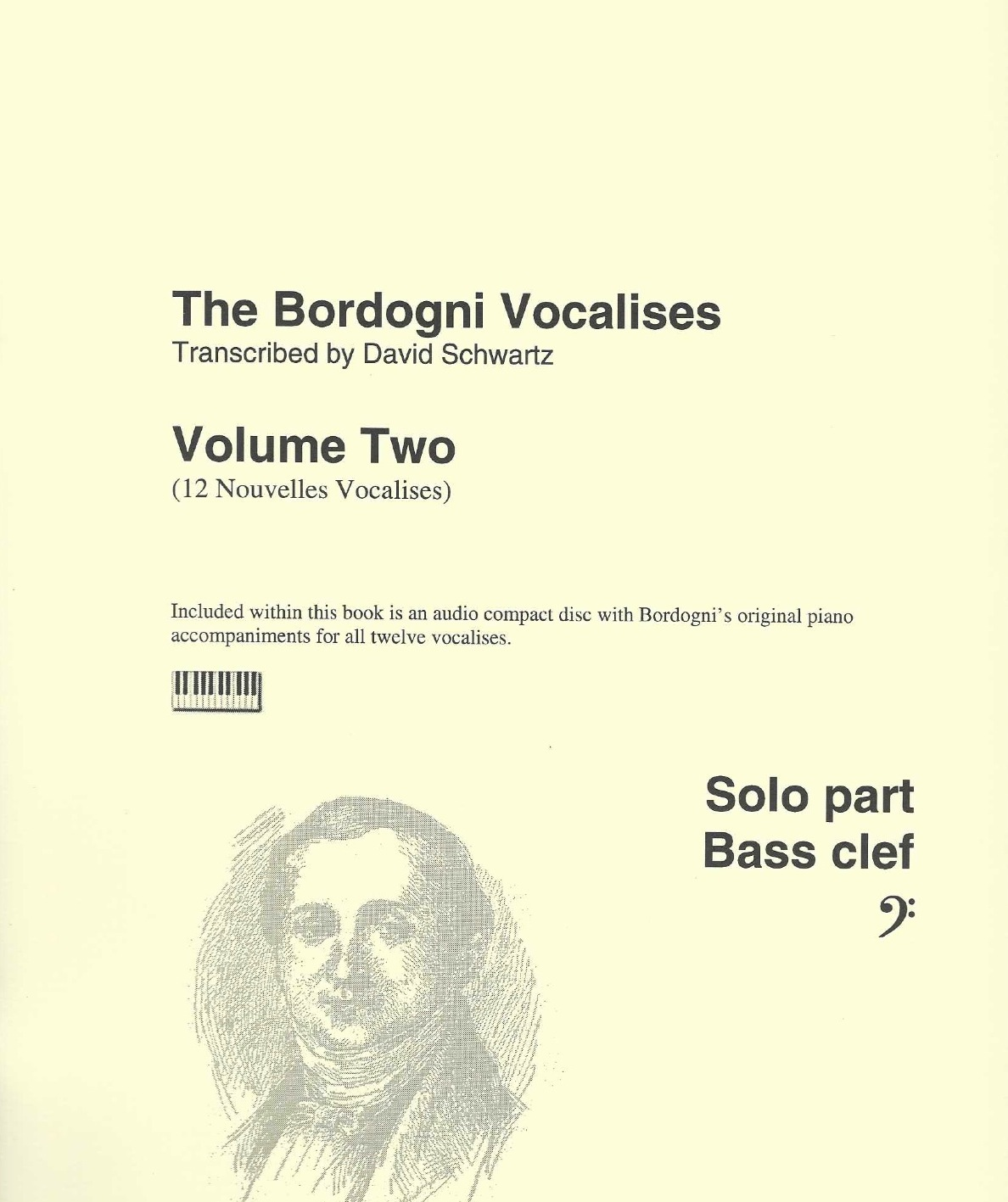Bordogni Vocalises (Rochut) in bass clef - Vol.2 (12 pieces) - with piano acc. on CD