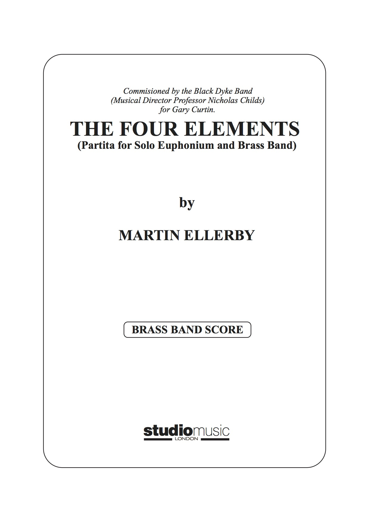 The Four Elements (Partita for Solo Euphonium and Brass Band) - Martin Ellerby - brass band set