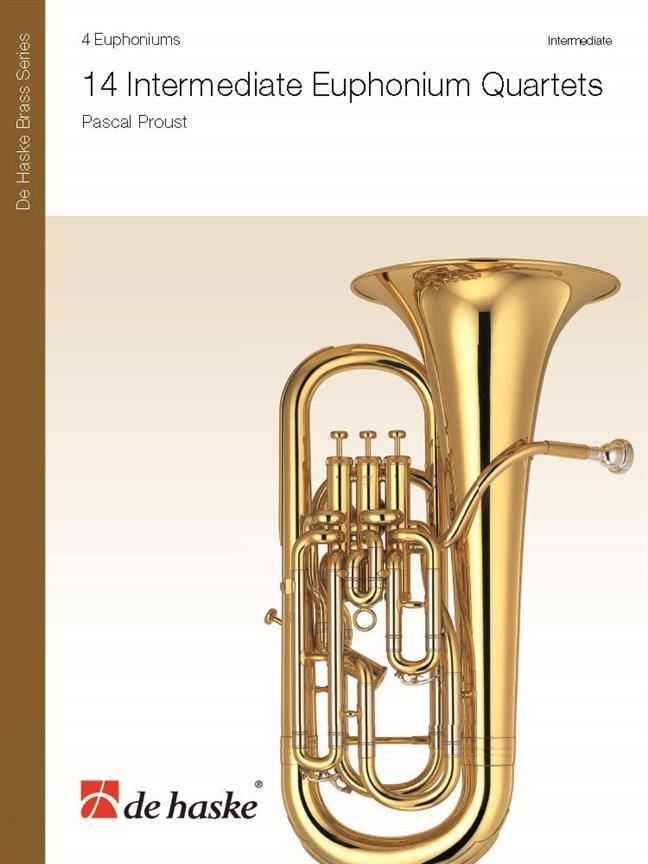 14 Intermediate Euphonium Quartets - Pascal Proust