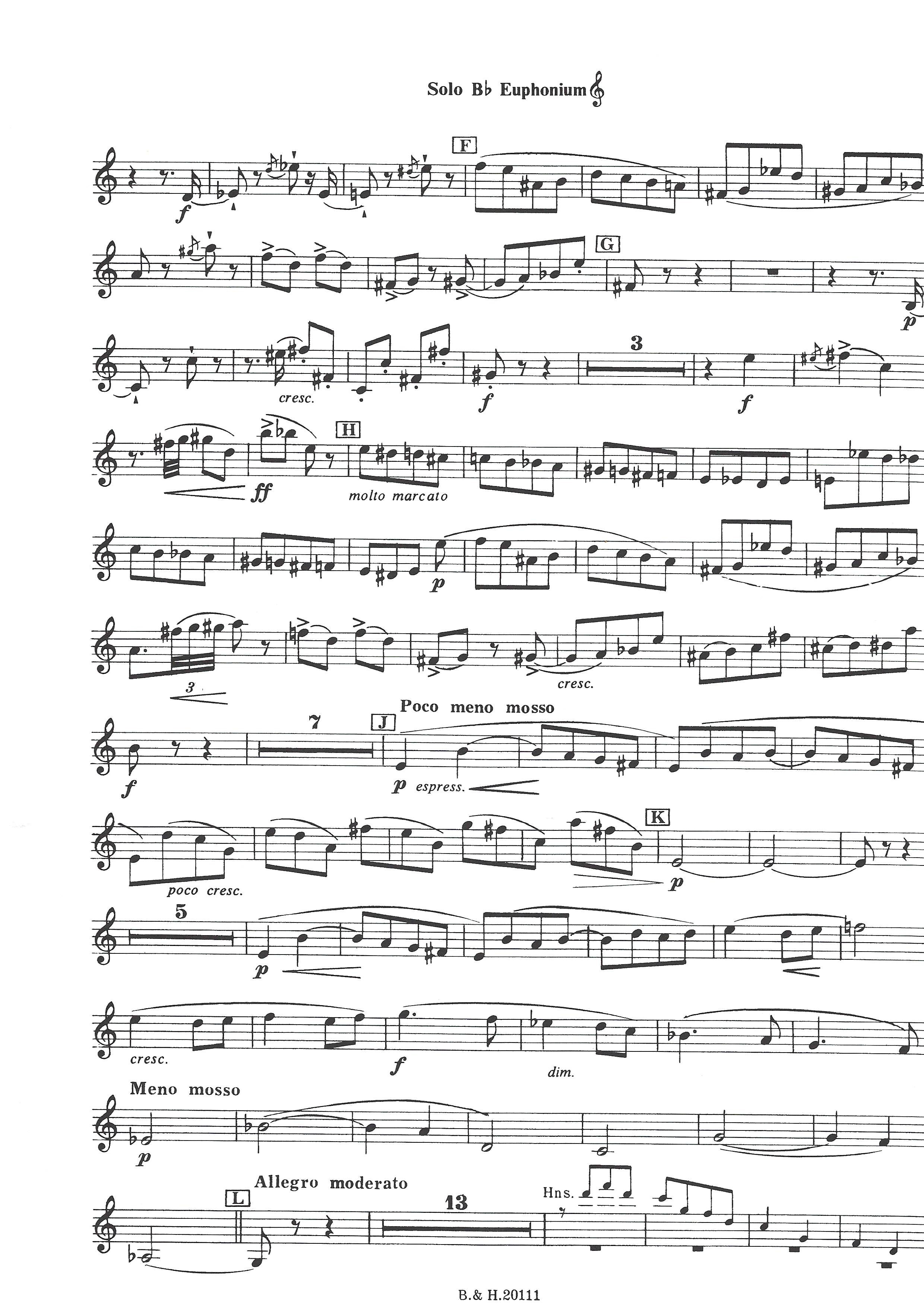 Oblivion - A.Piazzolla Arr. G.Anderson for euphonium and piano
