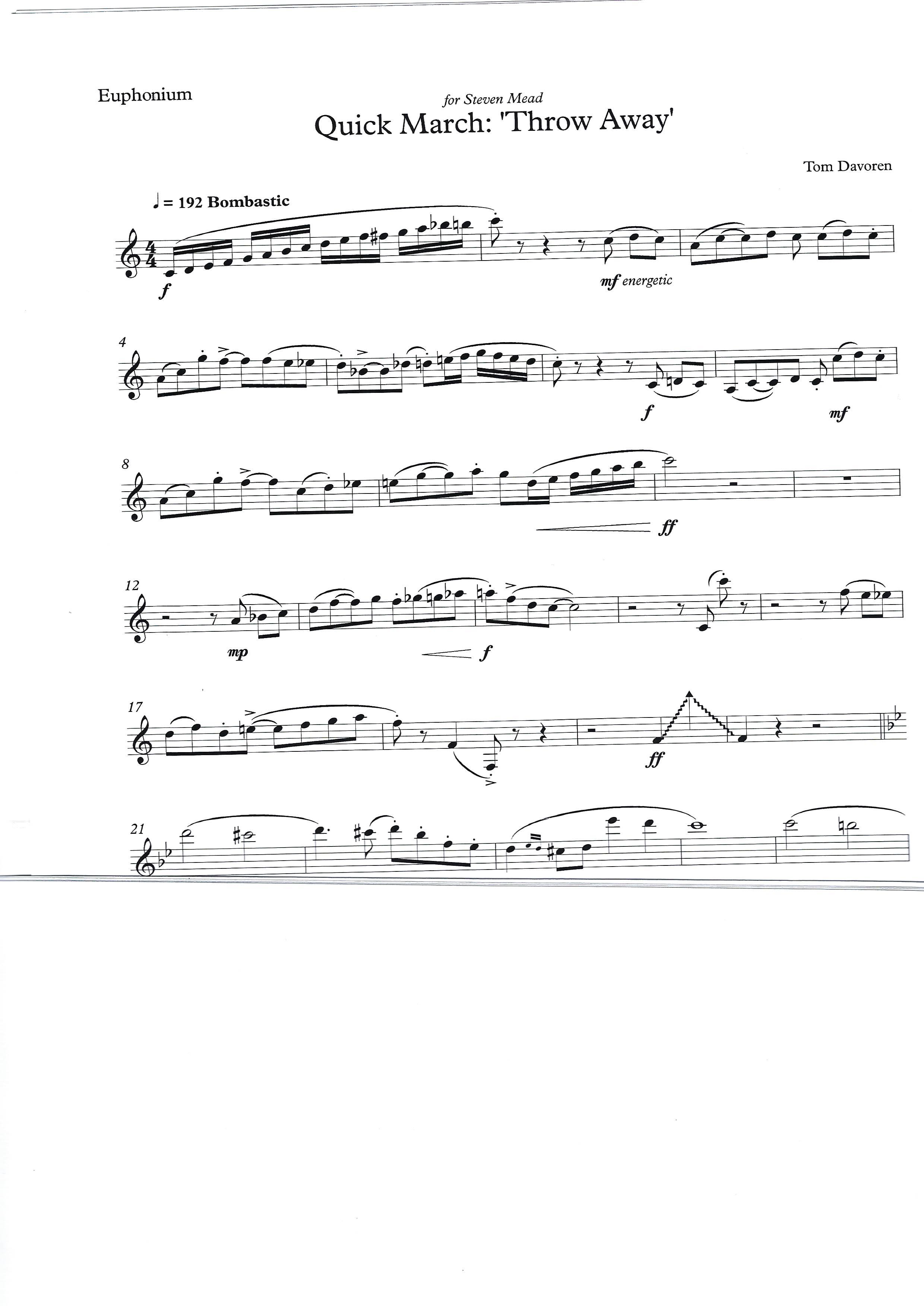 Solo De Concurso - Miguel Yuste - Euphonium and Piano
