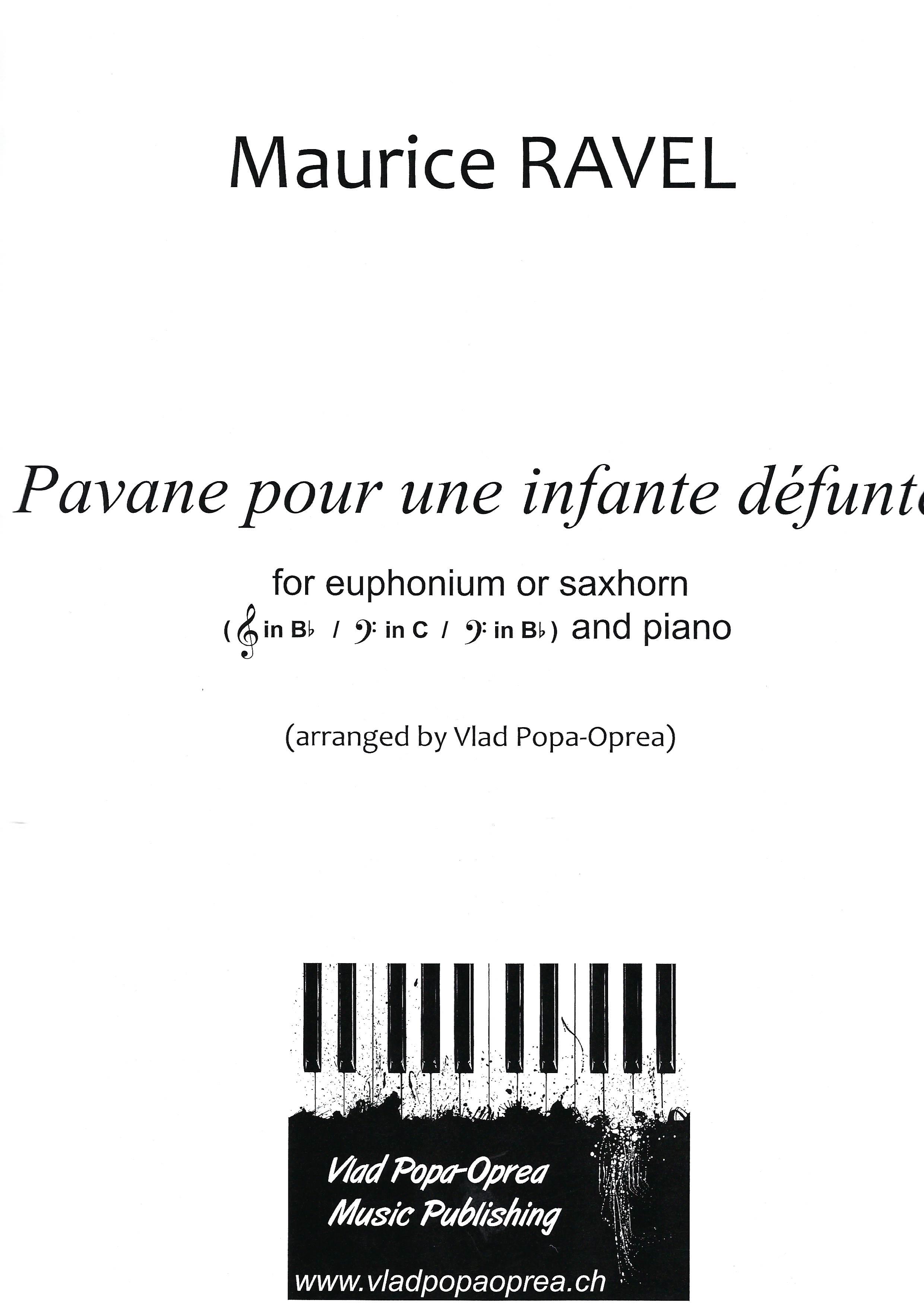 Pavane pour une Infante Defunte - Maurice Ravel Arr. Vlad Popa-Oprea - Euphonium or Baritone and Piano
