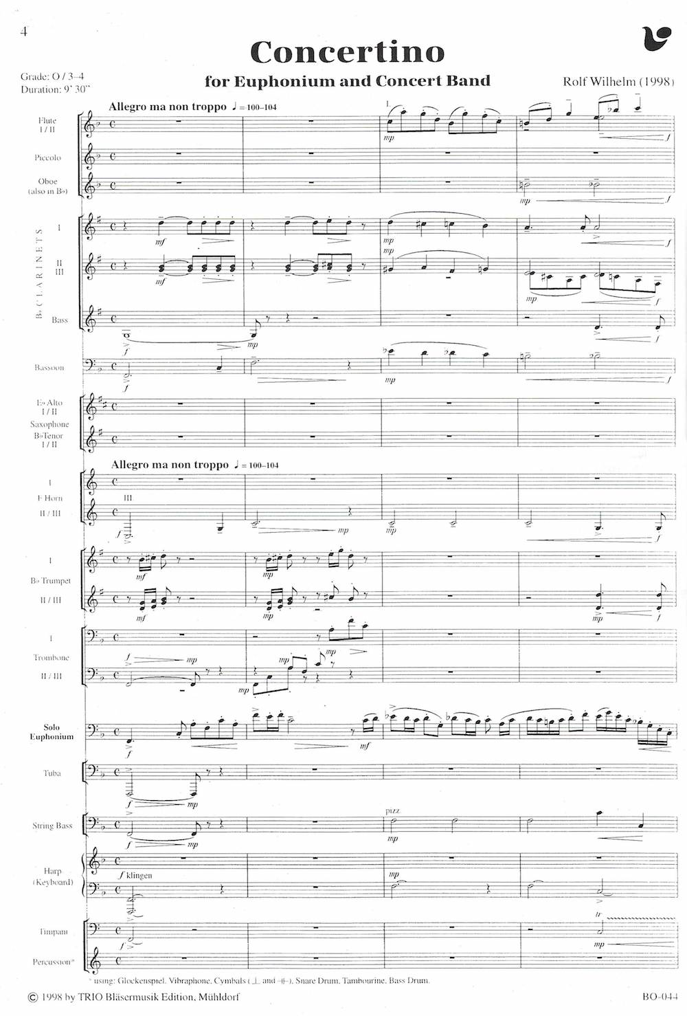 Dreamsong - Philip Sparke - Euphonium and Brass Band