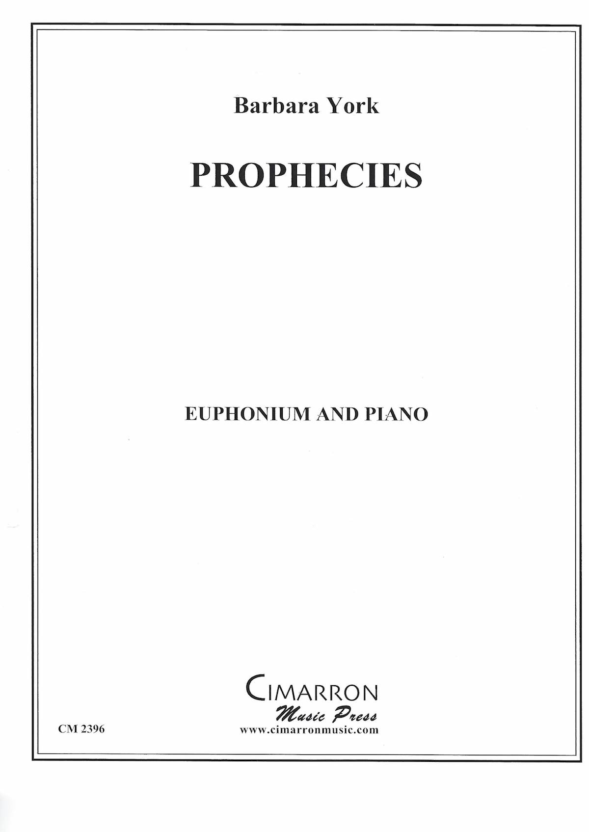 Prophecies - Barbara York - Euphonium and Piano