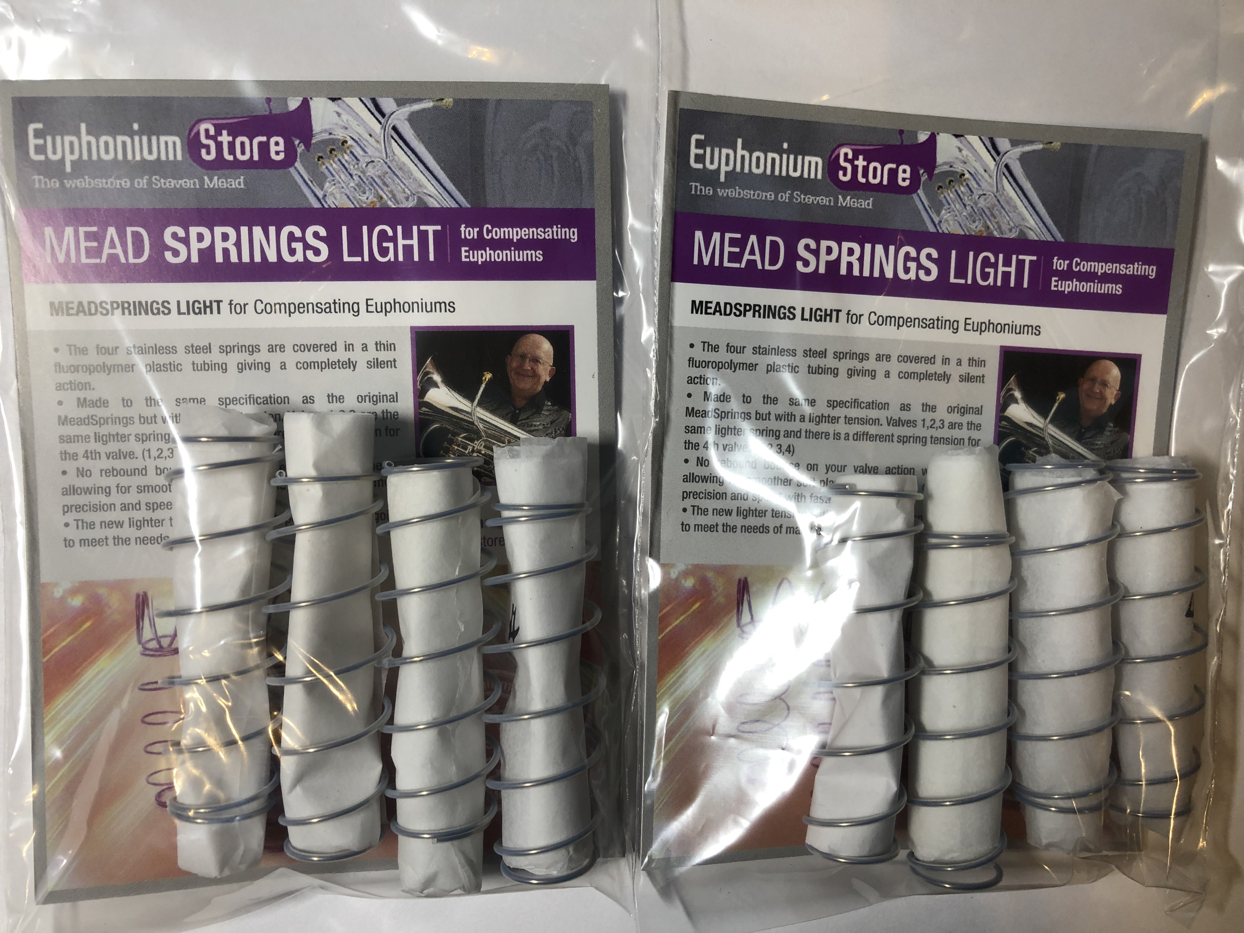 Two sets of Light MeadSprings for Euphonium