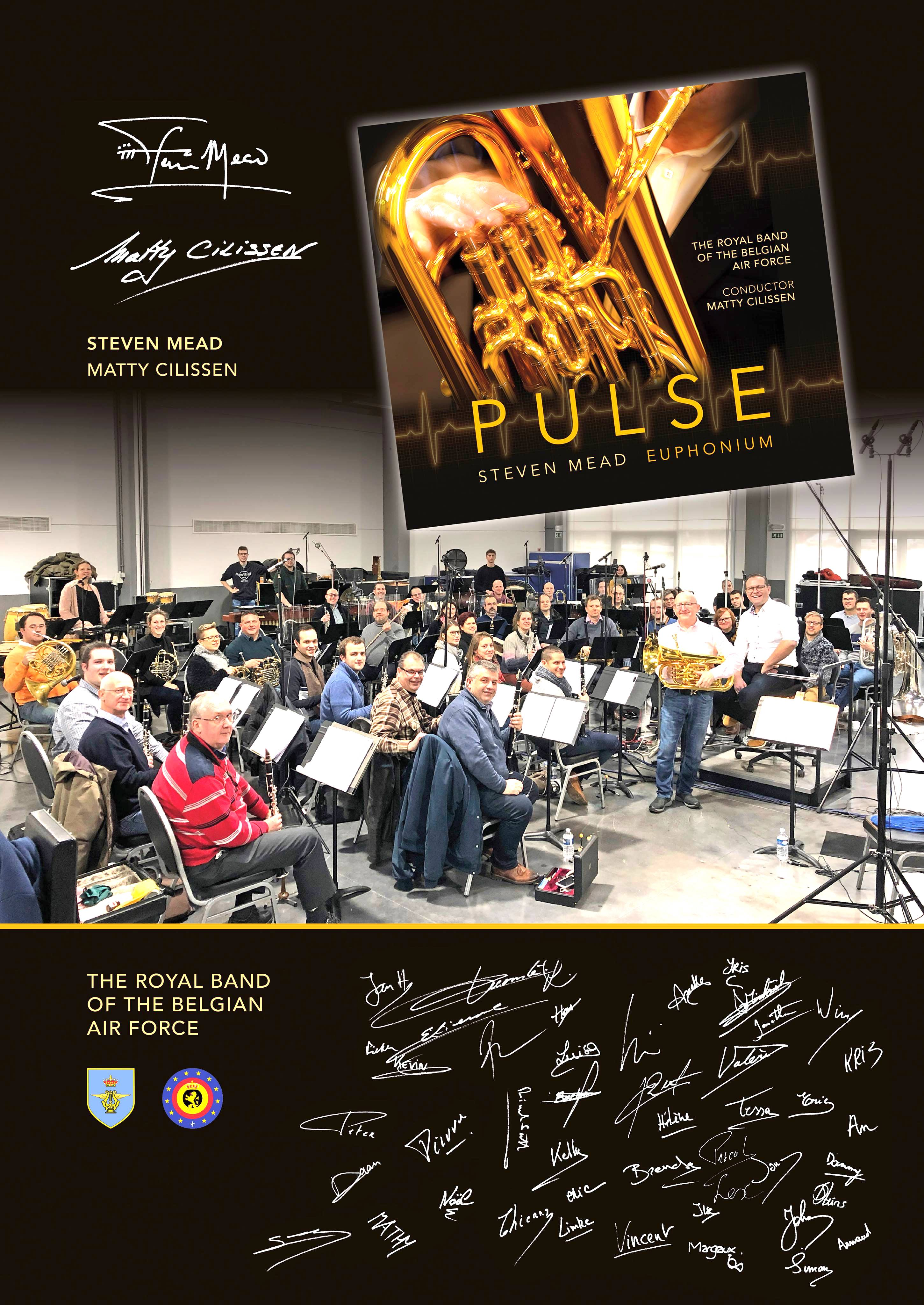 Signed souvenir poster for the Pulse CD