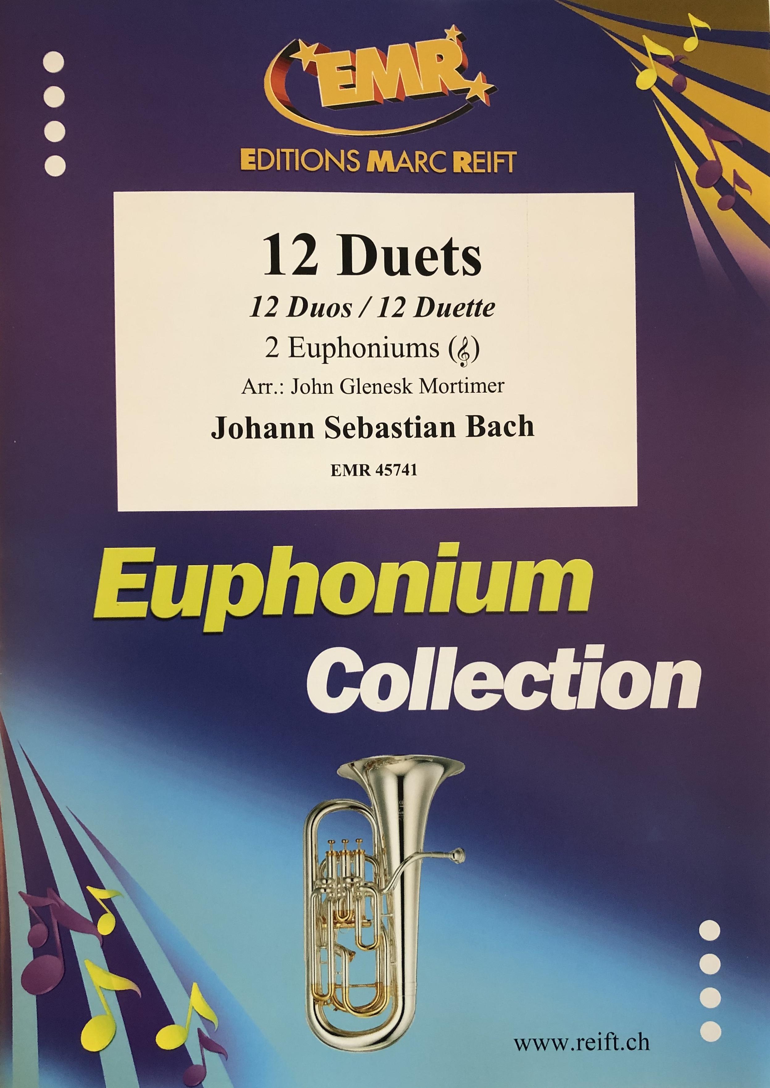 12 Duets for 2 Euphoniums (treble clef) - JS Bach Arr John Mortimer