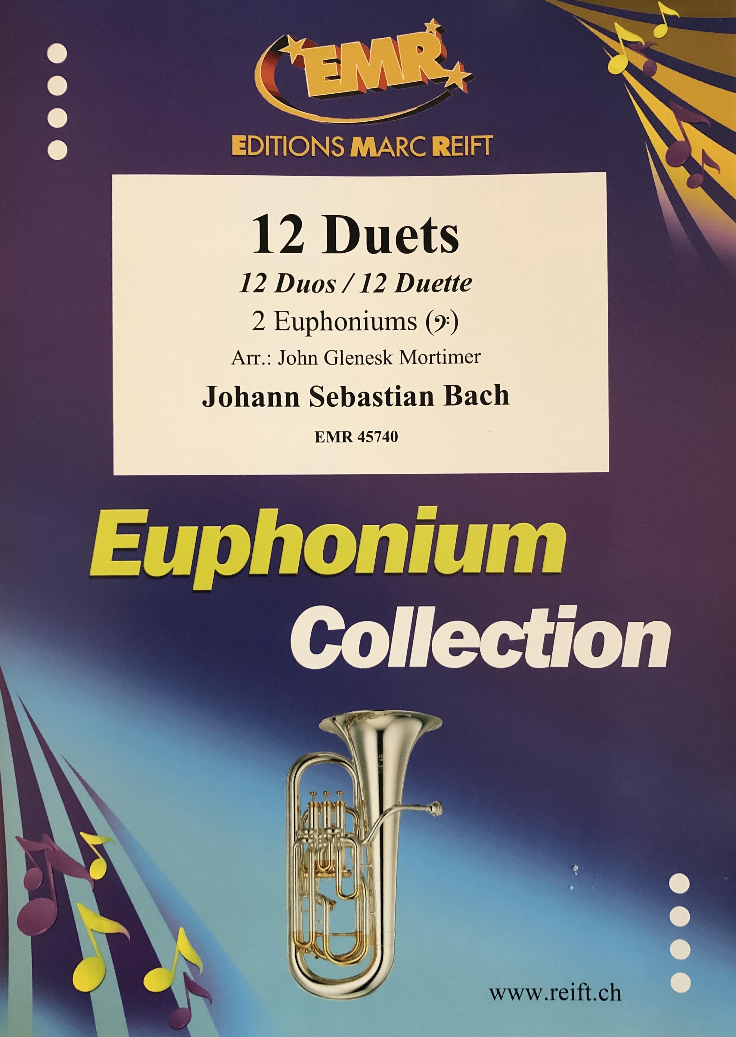 12 Duets for 2 Euphoniums (bass clef) - JS Bach Arr John Mortimer