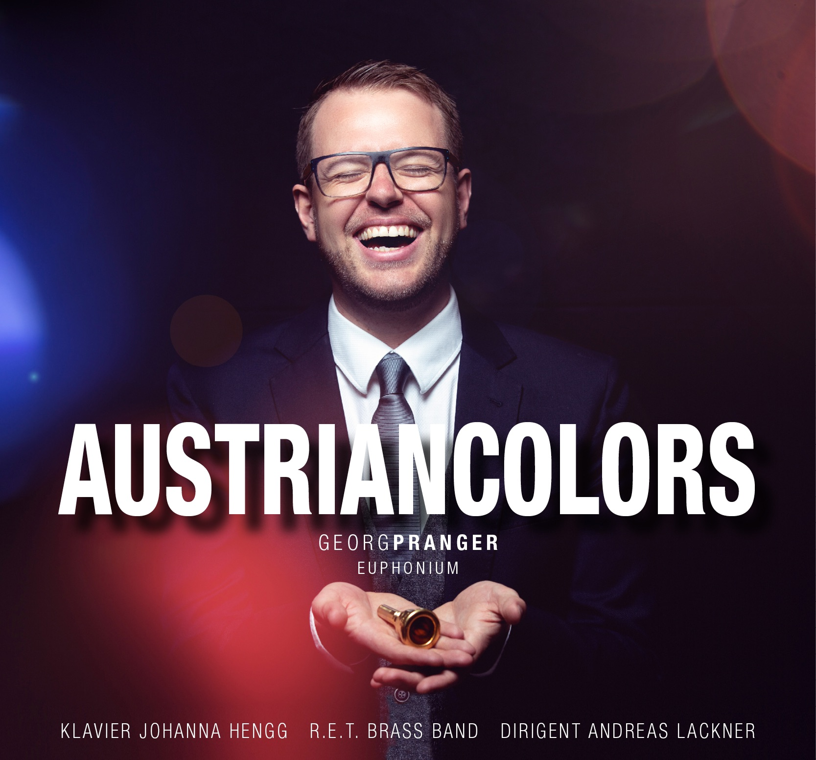 CD - Austrian Colors - Georg Pranger - accompanied by piano and brass band