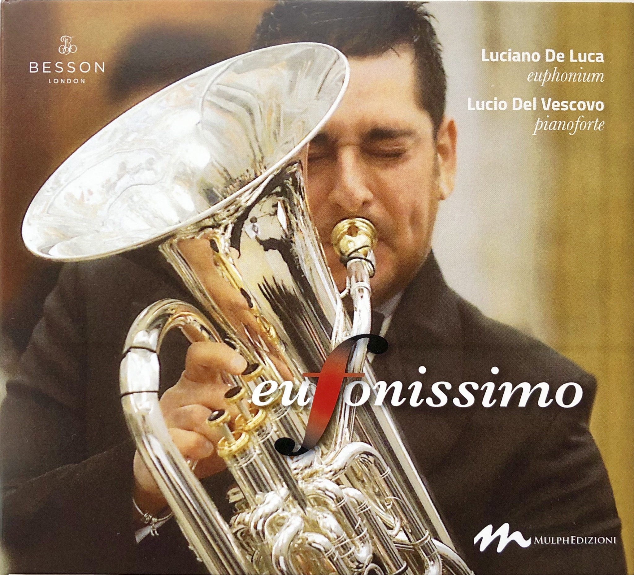 CD - Eufonissimo - Luciano De Luca (euph) with Lucio Del Vescovo (piano) - not currently available - being reprinted