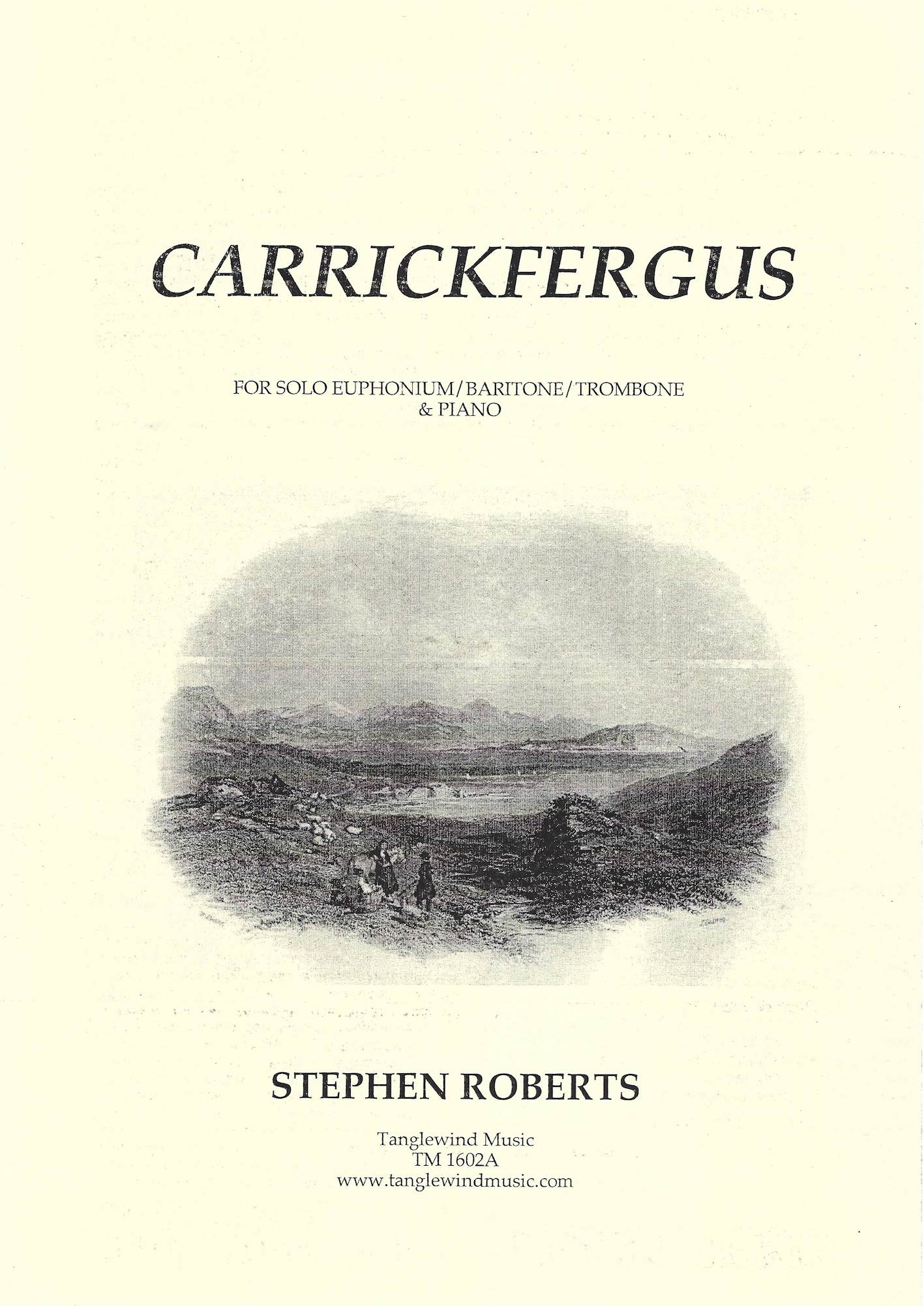 Carrickfergus - Trad. Irish Air Arr. Stephen Roberts - Euphonium (or baritone or trombone) with piano accompaniment