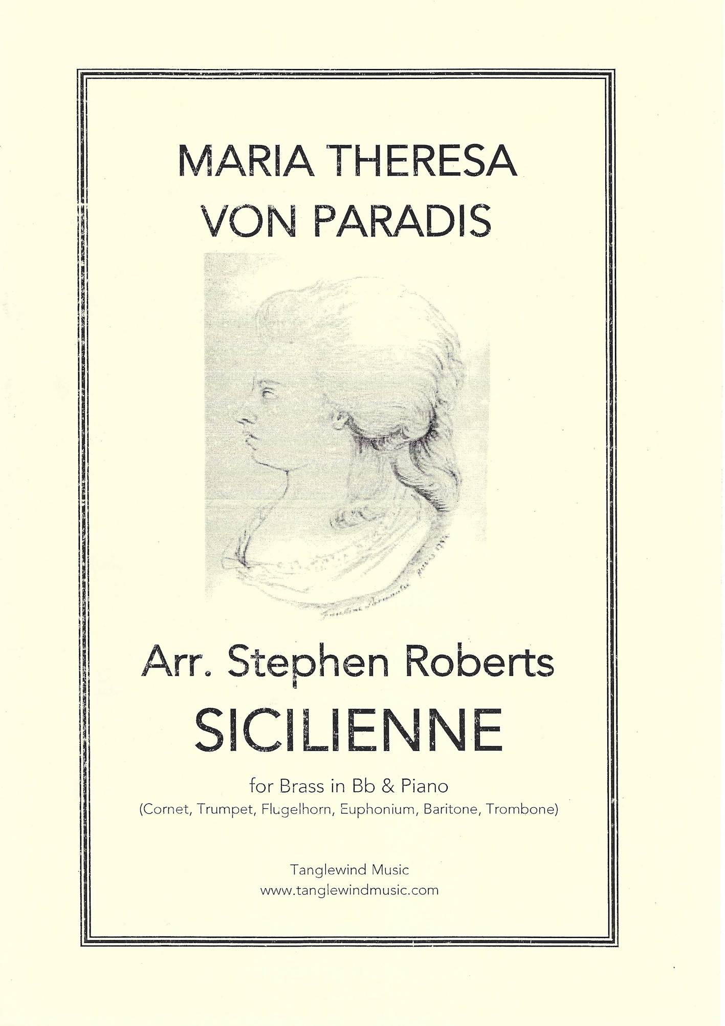 Sicilienne - Maria Theresa Von Paradis Arr. S. Roberts - Brass (in Bb) solo and Piano