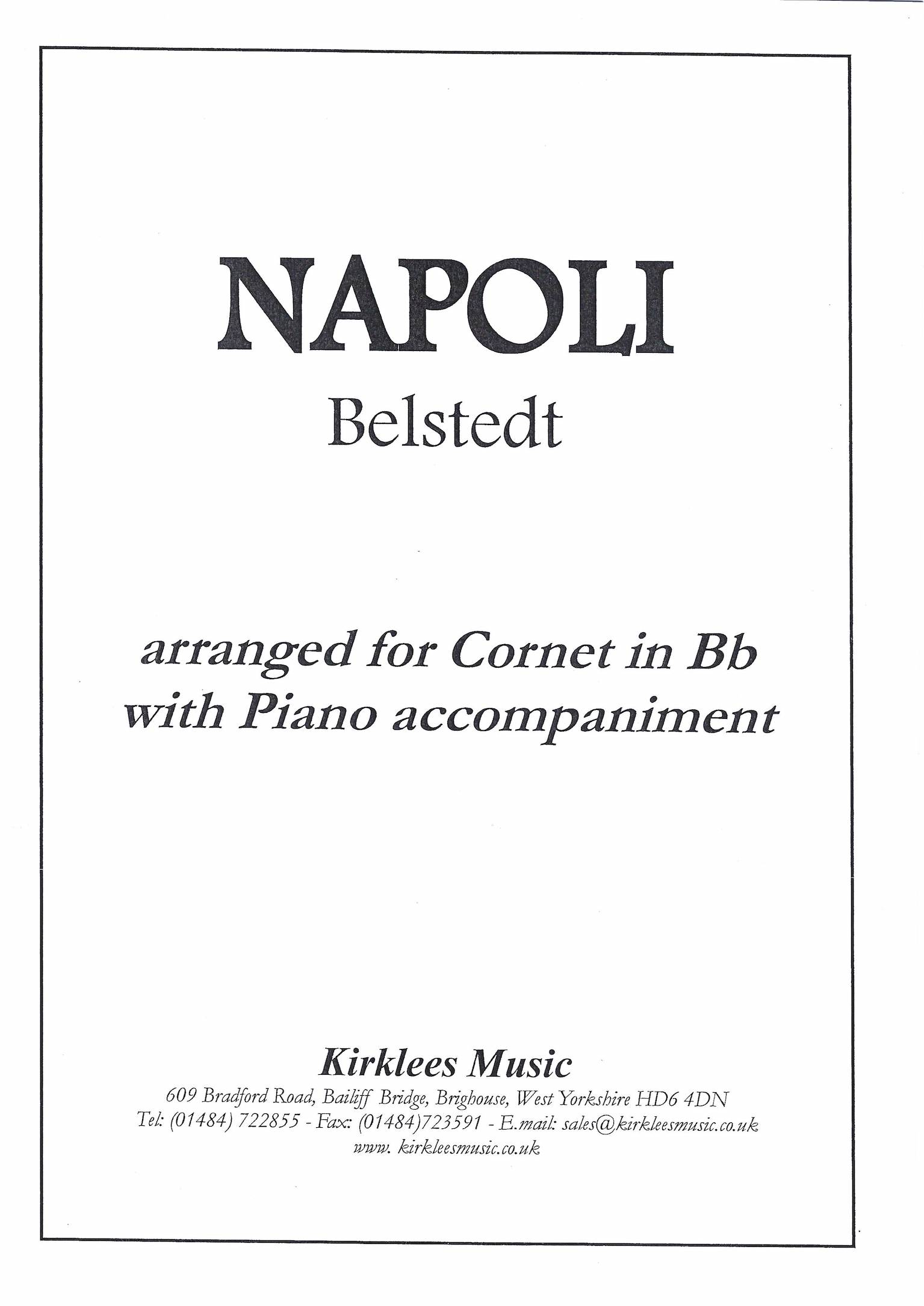 Napoli - Hermann Belstedt - Euphonium or Cornet and Piano