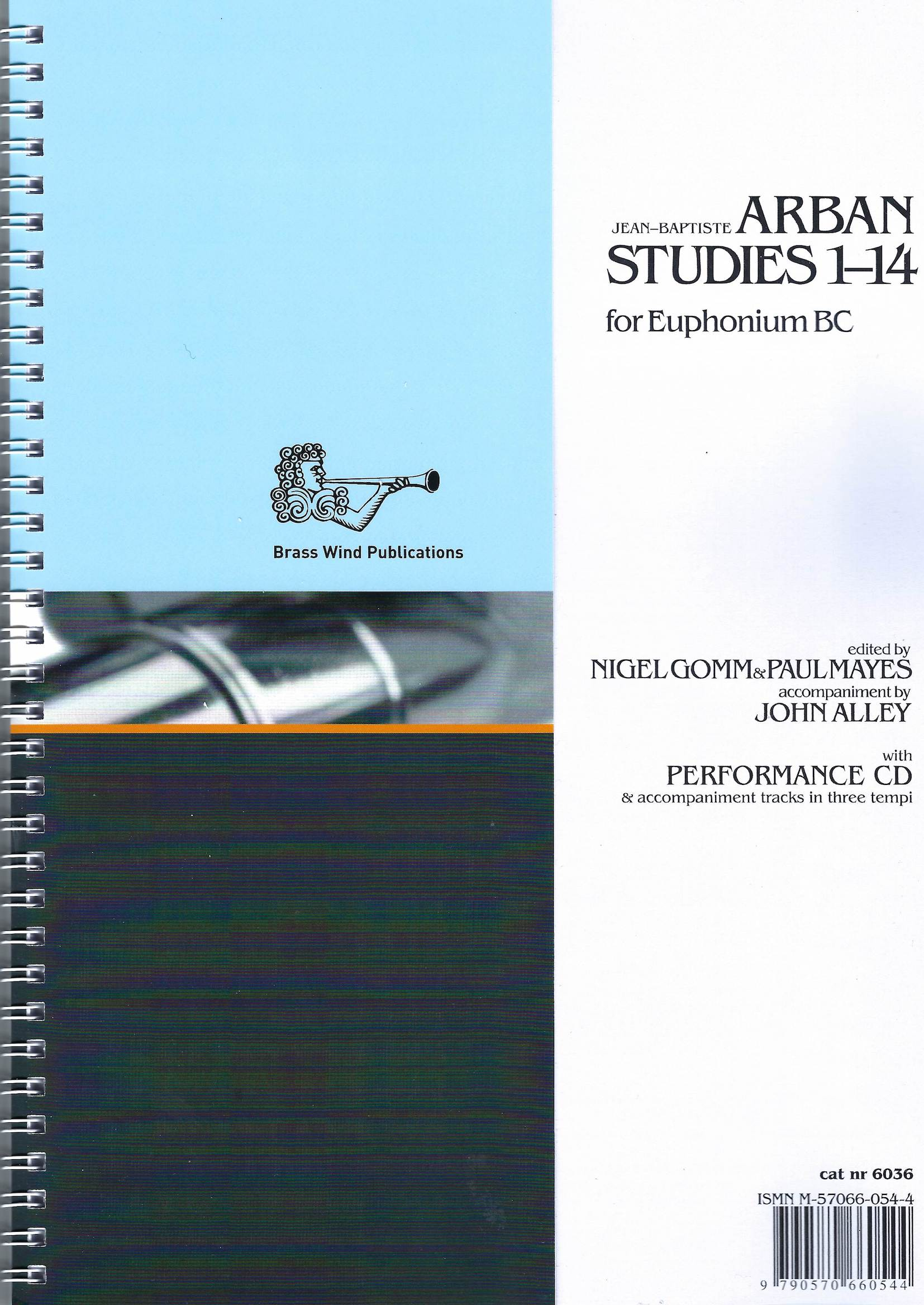 Arban Studies 1-14 - Ed. Gomm and Mayes (solo part, piano part and 2CDs) Bass Clef version
