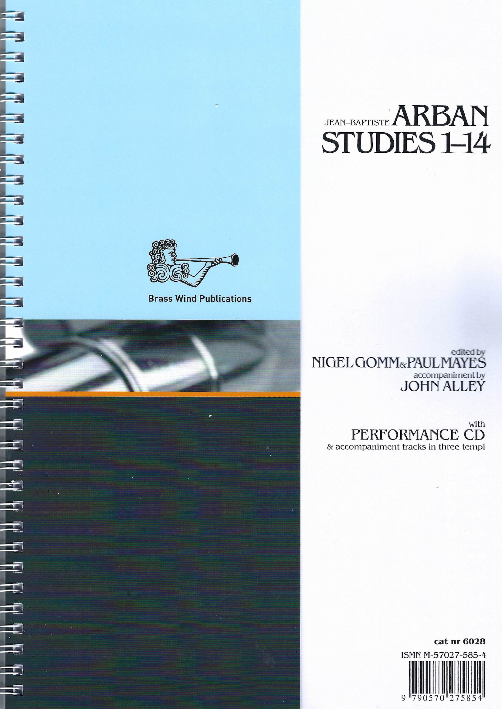Arban Studies 1-14 - Ed. Gomm and Mayes (solo part, piano part and 2CDs) Treble Clef version