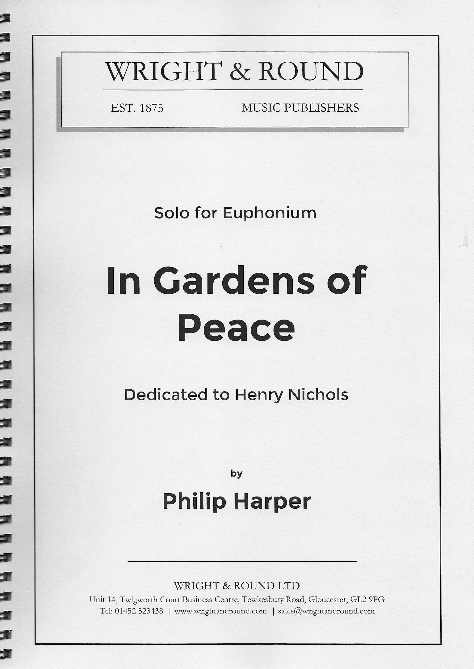 In Gardens of Peace - Philip Harper - Euphonium with Brass Band accompaniment