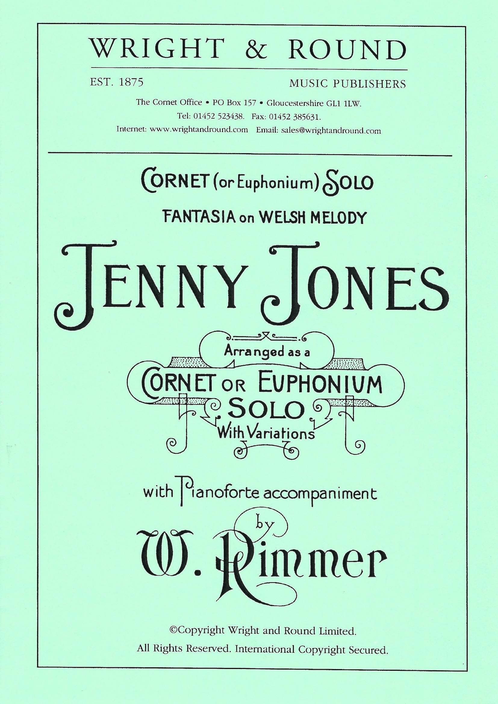 Jenny Jones - William Rimmer - Euphonium and Piano