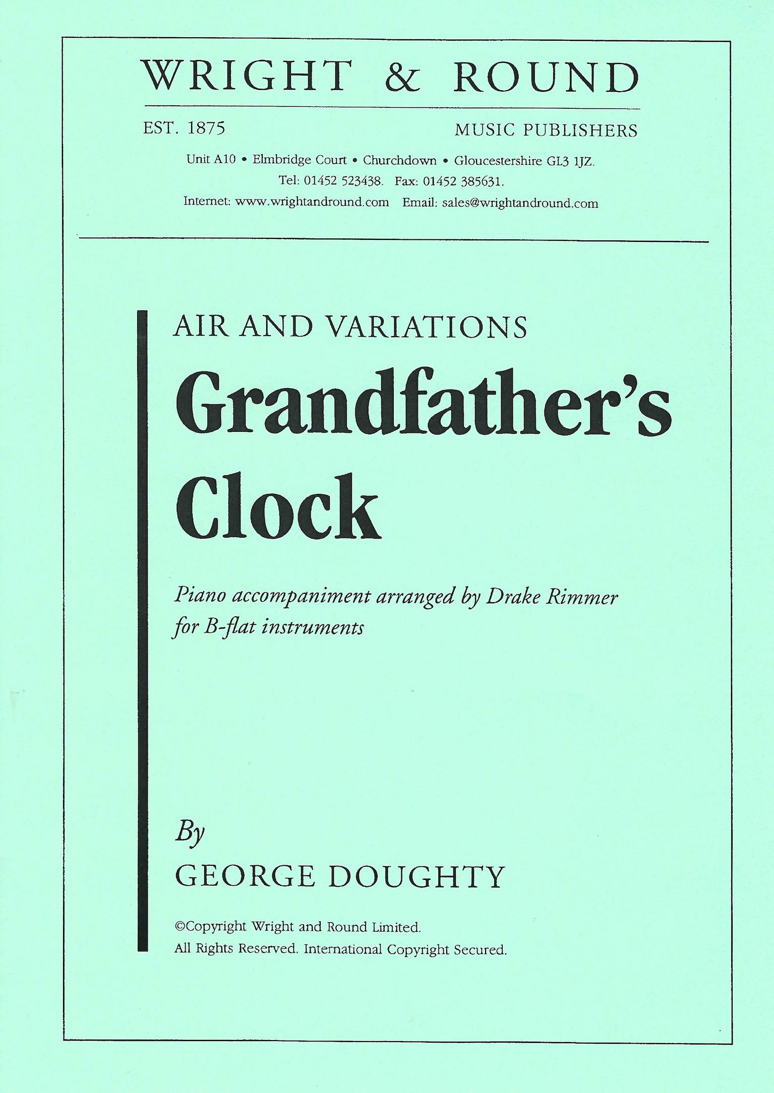 Grandfather's Clock - George Doughty - Euphonium and Piano
