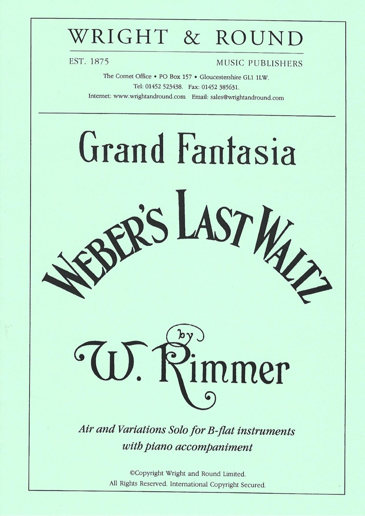 Weber's Last Waltz - William Rimmer - Euphonium and Piano