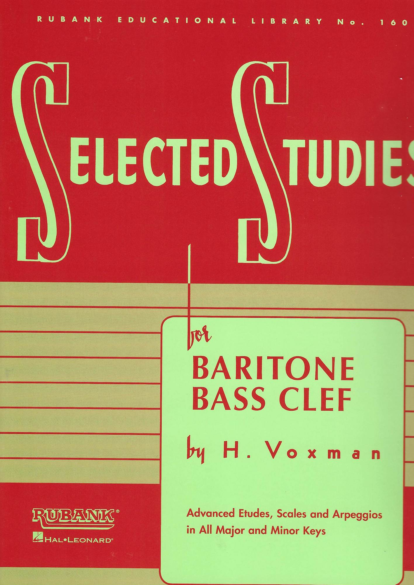 Selected Studies for Baritone/Euphonium - H. Voxman - Bass Clef version