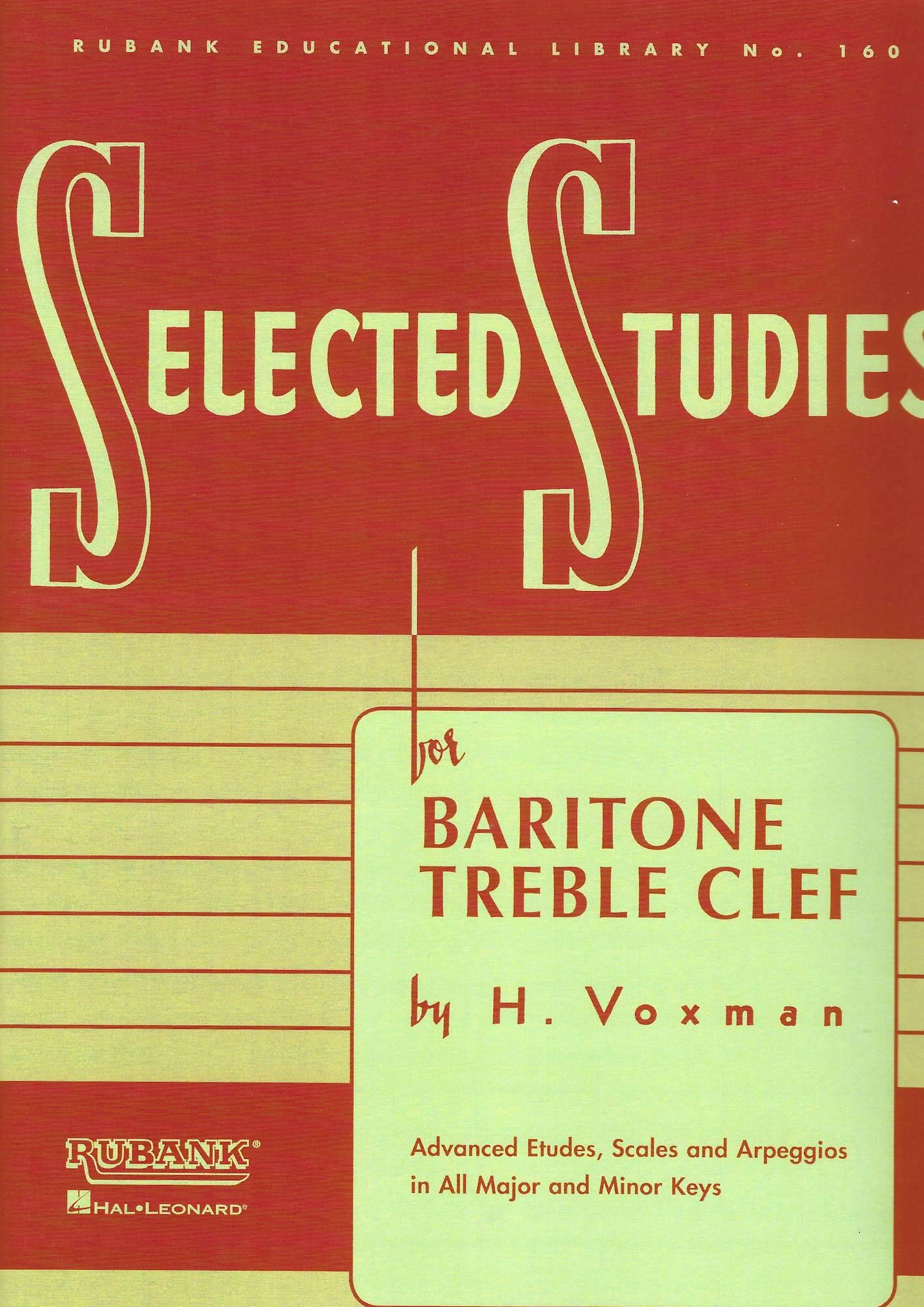 Selected Studies for Baritone/Euphonium - H. Voxman - Treble Clef version