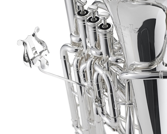 Euphonium/Tuba Lyre - complete - Silver plated - Made by Denis Wick Products Ltd.