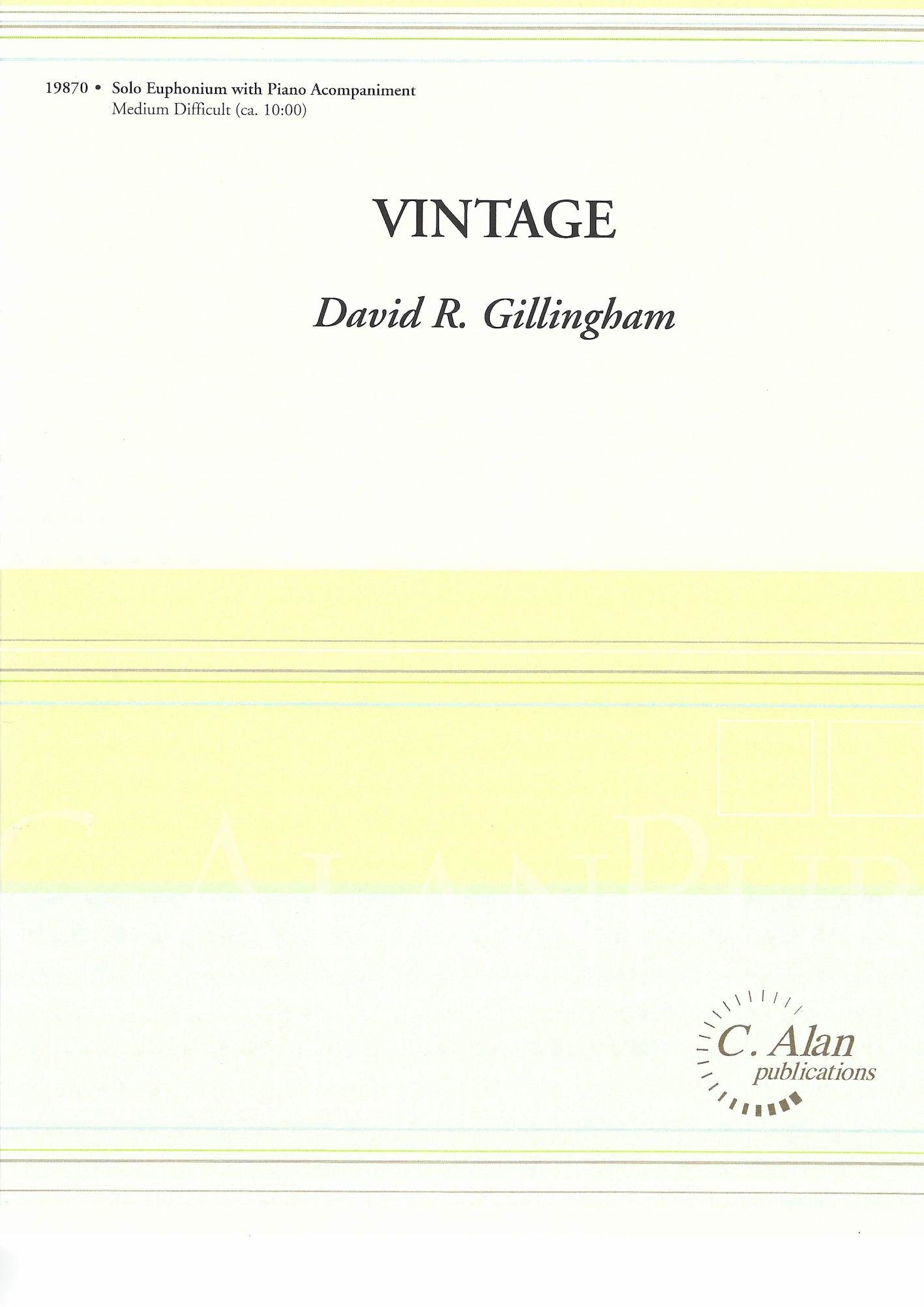 Vintage - David Gillingham - Euphonium and Piano