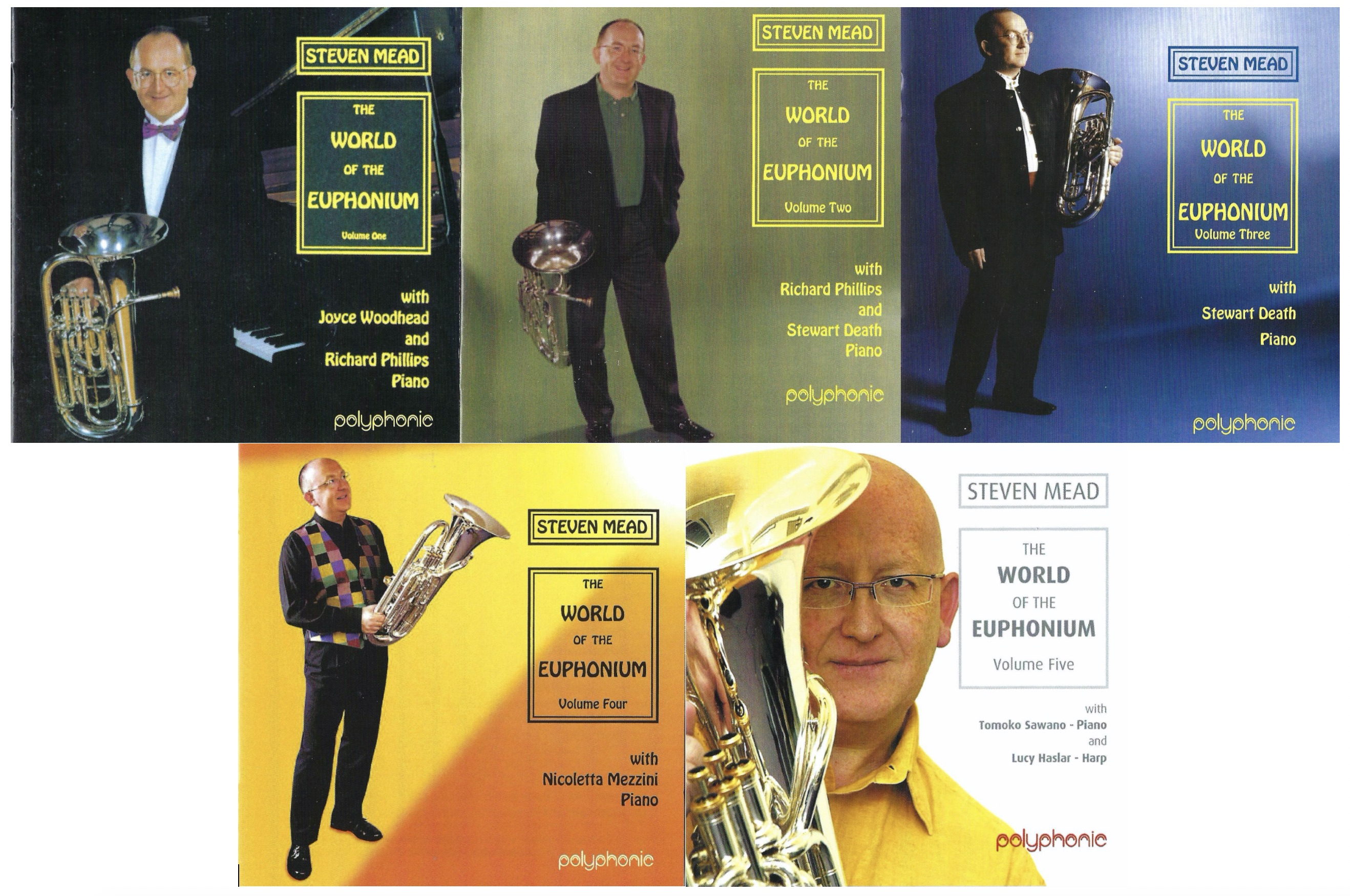 ** Limited Edition - Autographed - The World of the Euphonium - Volumes 1,2,3,4,5 CDs - The Complete Collection **