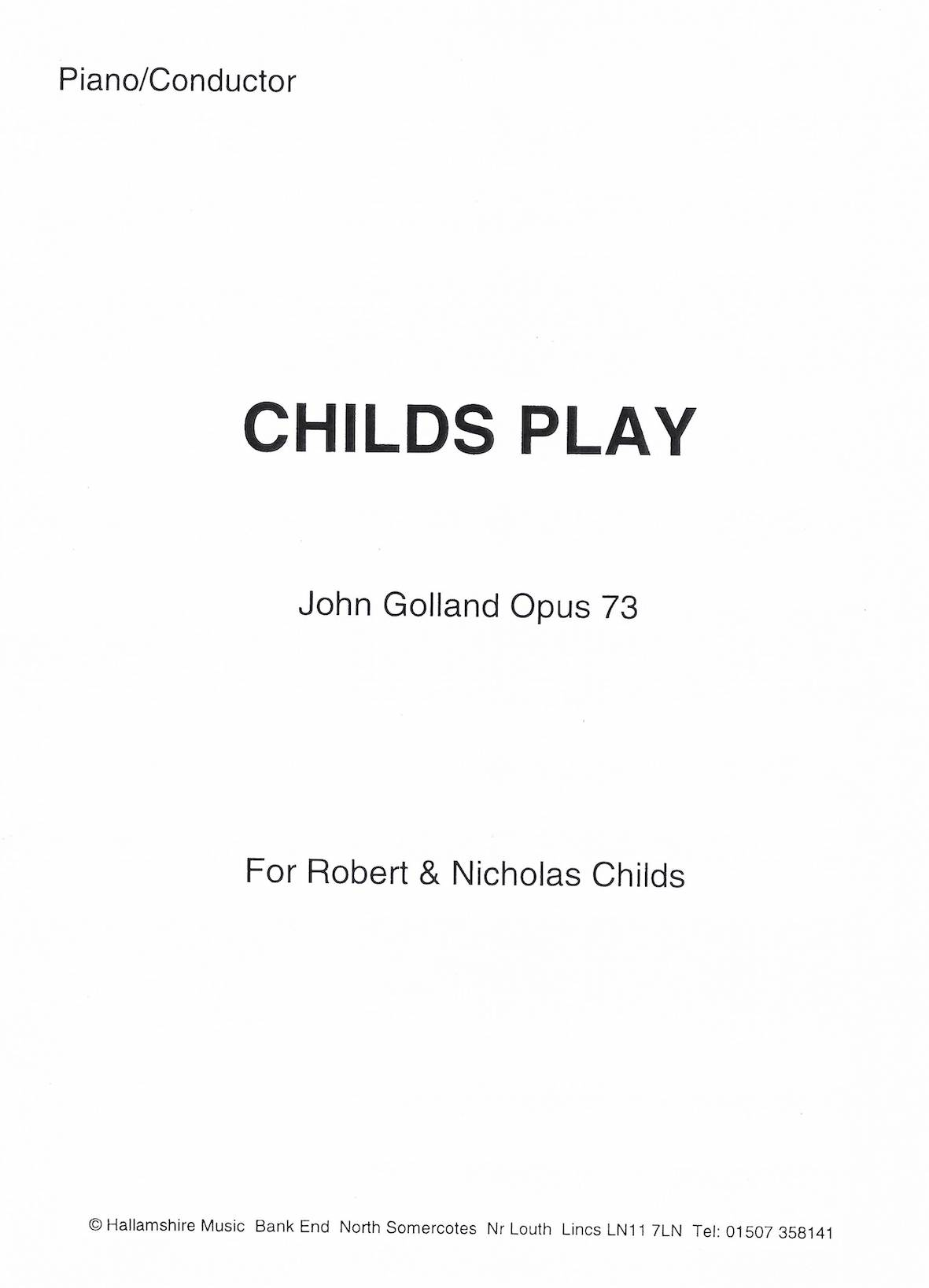 Childs Play - John Golland Op.73 - Euphonium solo or duet and Piano