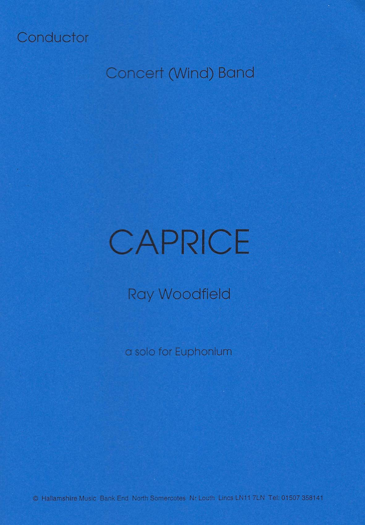 Caprice - Ray Woodfield. Euphonium and Wind Orchestra/Harmonie